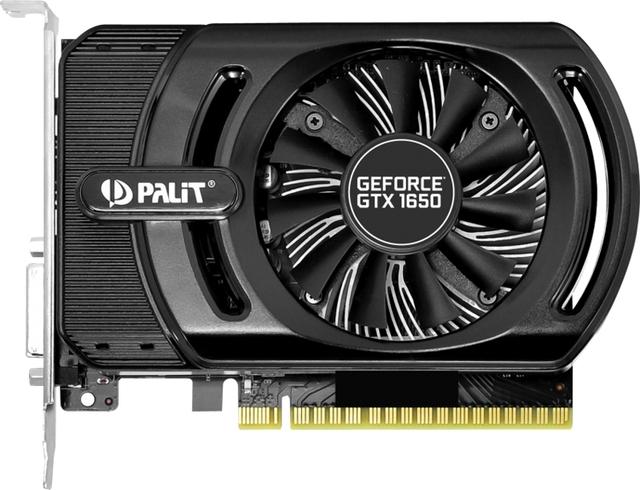 Частота ядра ускорителя Palit GeForce GTX 1650 StormX OC достигает 1725 МГц